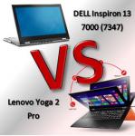 DELL Inspiron 13 7000 Vs Lenovo Yoga 2 Pro - מי יותר טוב?